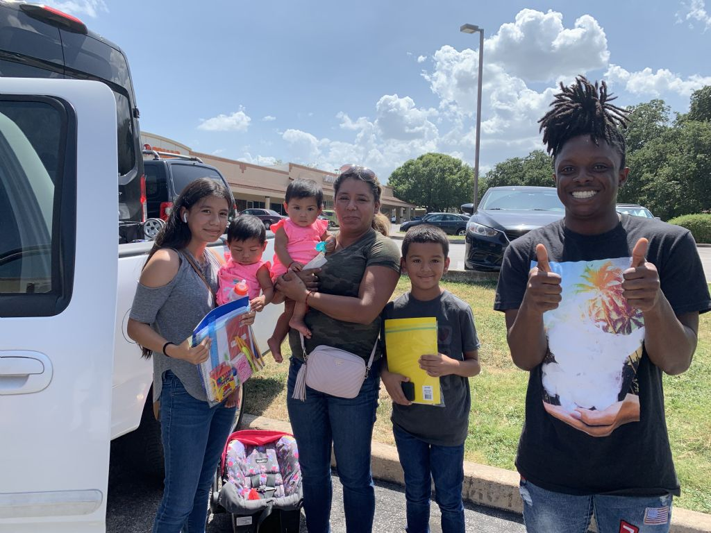 Our mobile school supply drive in Austin